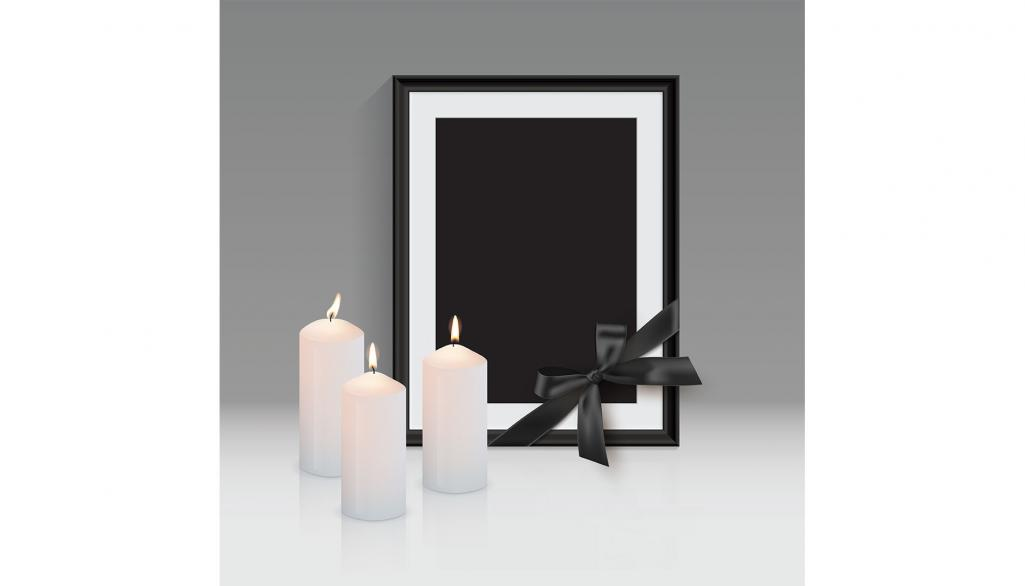 candles and photo frame