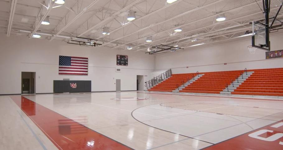indoor empty basketball court