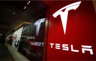 close-up of Tesla power wall