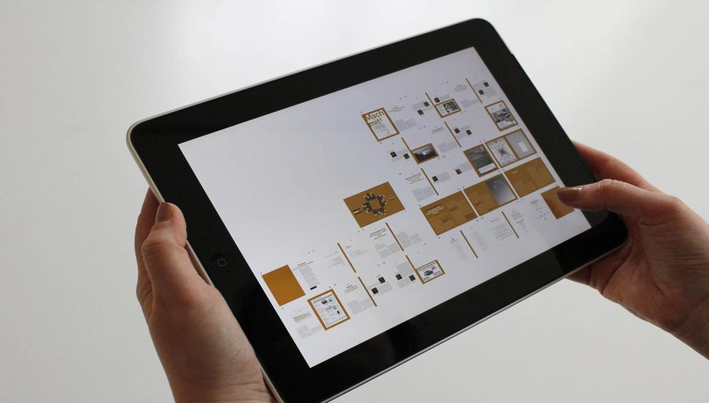 tablet with digital app
