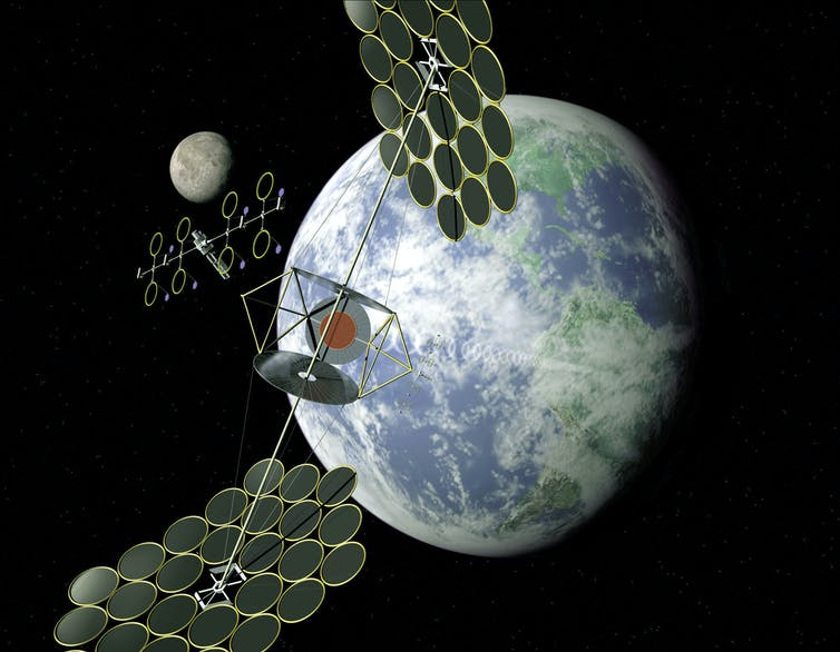 solar stations in space