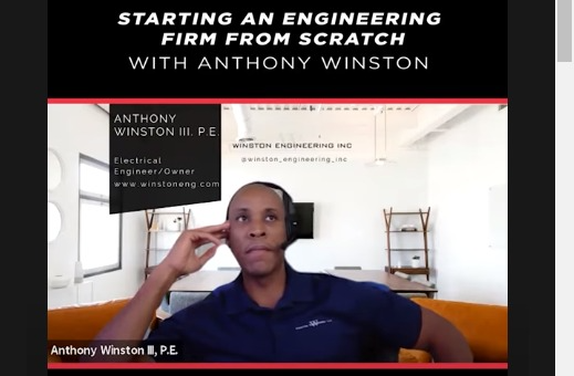 Anthony Winston Starting an Engineering Firm from Scratch