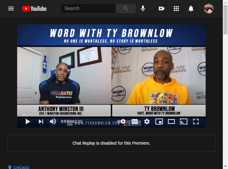 Word With Ty Brownlow Ep.# 98 Anthony Winston III