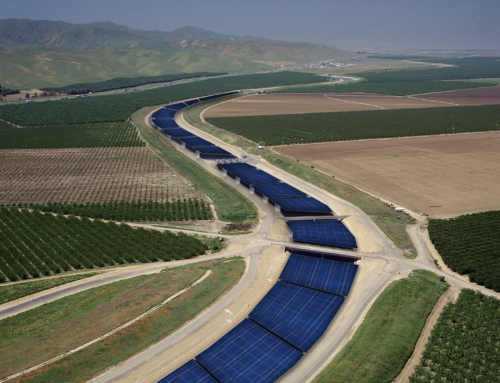 Solar panels and water canals